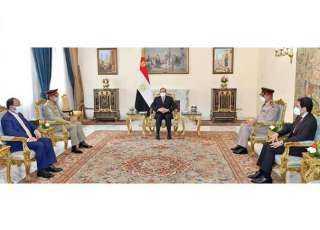 السيسي يلتقي رئيس هيئة الأركان المشتركة للقوات المسلحة الباكستانية