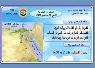 أخبار الطقس اليوم وغدًا.. درجات الحرارة فى مصر تصل 41ْ